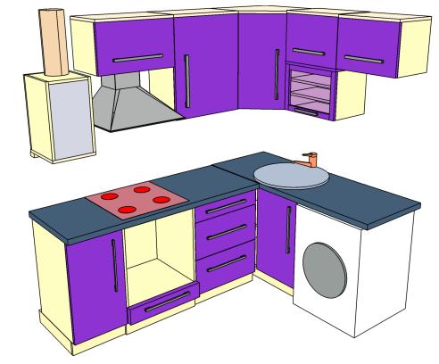 Кухни с газовой колонкой фото