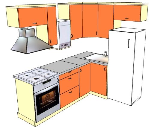 Дизайн кухни 6 кв м с колонкой 166