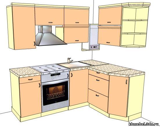 Кухня с газовой колонкой в хрущевке дизайн фото